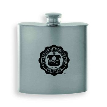 University of North Dakota-Contemporary Metals Flask-Silver