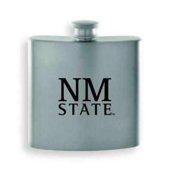 New Mexico State-Contemporary Metals Flask-Silver