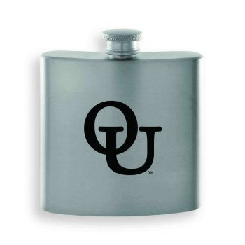 Oakland University-Contemporary Metals Flask-Silver