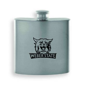 Weber State University-Contemporary Metals Flask-Silver