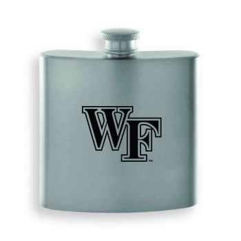 Wake Forest University-Contemporary Metals Flask-Silver