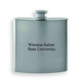 Winston-Salem State University-Contemporary Metals Flask-Silver