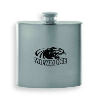 University of Wisconsin-Milwaukee-Contemporary Metals Flask-Silver