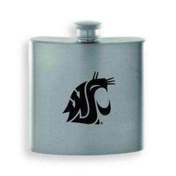 Washington State University-Contemporary Metals Flask-Silver