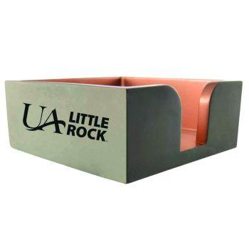 University of Arkansas At Little Rock-Concrete Note Pad Holder-Grey