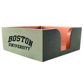 Boston University-Concrete Note Pad Holder-Grey