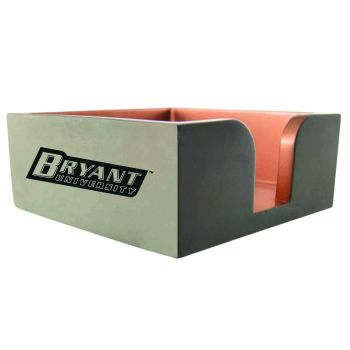 Bryant University-Concrete Note Pad Holder-Grey