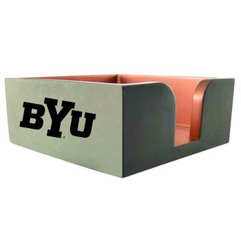 Brigham Young University-Concrete Note Pad Holder-Grey