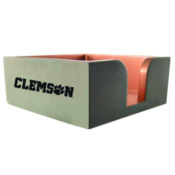 Clemson University-Concrete Note Pad Holder-Grey