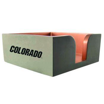 University of Colorado-Concrete Note Pad Holder-Grey