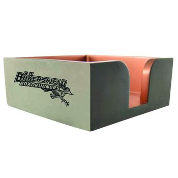 California State University, Bakersfield-Concrete Note Pad Holder-Grey