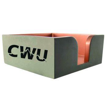 Central Washington University -Concrete Note Pad Holder-Grey