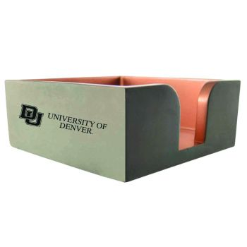 University of Denver-Concrete Note Pad Holder-Grey