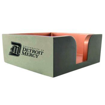 University of Detroit Mercy-Concrete Note Pad Holder-Grey