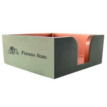 Fresno State-Concrete Note Pad Holder-Grey