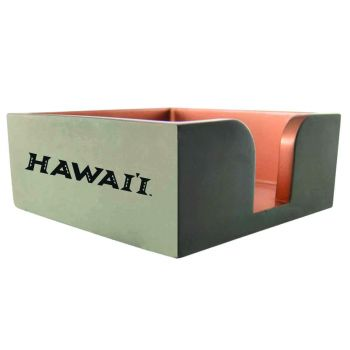 The University of Hawai'i-Concrete Note Pad Holder-Grey