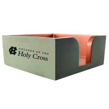College of the Holy Cross-Concrete Note Pad Holder-Grey