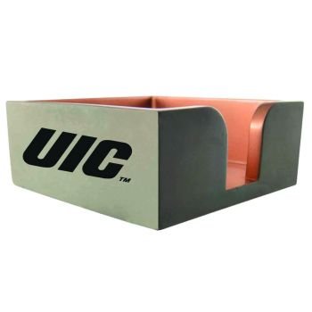 University of Illinois at Chicago-Concrete Note Pad Holder-Grey