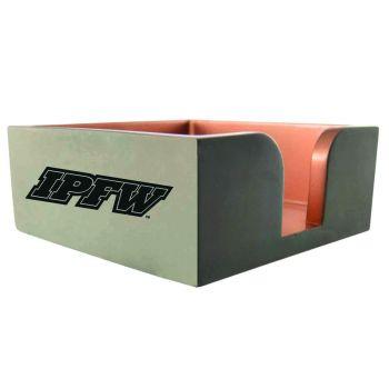 Indiana University, Purdue University Fort Wayne-Concrete Note Pad Holder-Grey