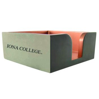 Iona College-Concrete Note Pad Holder-Grey