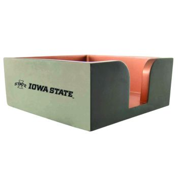 Iowa State University-Concrete Note Pad Holder-Grey