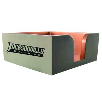 Jacksonville University-Concrete Note Pad Holder-Grey