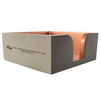 George Washington University -Concrete Note Pad Holder-Grey