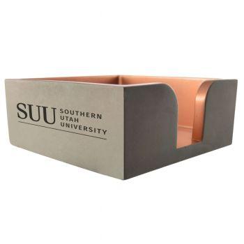 Southern Utah University-Concrete Note Pad Holder-Grey