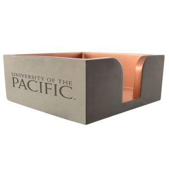 University of The Pacific -Concrete Note Pad Holder-Grey