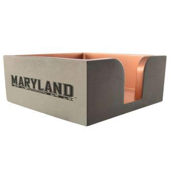 University of Maryland-Concrete Note Pad Holder-Grey