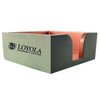 Loyola University Chicago -Concrete Note Pad Holder-Grey