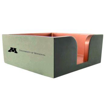 University of Minnesota-Concrete Note Pad Holder-Grey