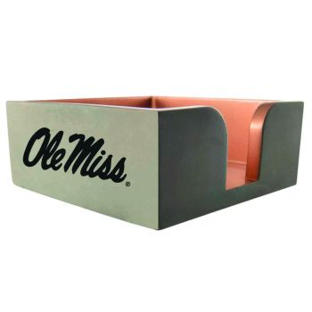 University of Mississippi -Concrete Note Pad Holder-Grey