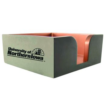 University of Northern Iowa-Concrete Note Pad Holder-Grey