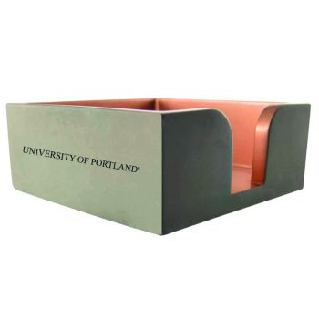 The University of Portland-Concrete Note Pad Holder-Grey