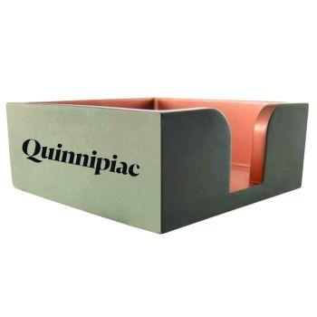 Quinnipiac University -Concrete Note Pad Holder-Grey