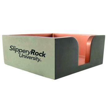 Slippery Rock University -Concrete Note Pad Holder-Grey