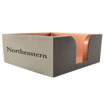 Northeastern University-Concrete Note Pad Holder-Grey
