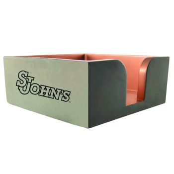 St. John's University-Concrete Note Pad Holder-Grey