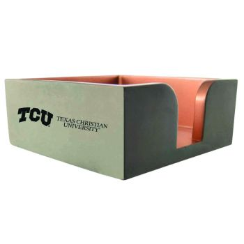 Texas Christian University-Concrete Note Pad Holder-Grey