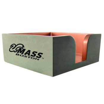 University of Massachusetts, Boston-Concrete Note Pad Holder-Grey