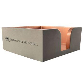 University of Missouri-Concrete Note Pad Holder-Grey