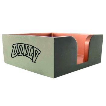University of Nevada Las Vegas-Concrete Note Pad Holder-Grey