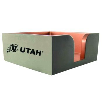 University of Utah-Concrete Note Pad Holder-Grey