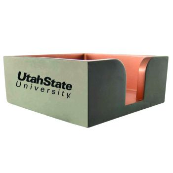 Utah State University-Concrete Note Pad Holder-Grey