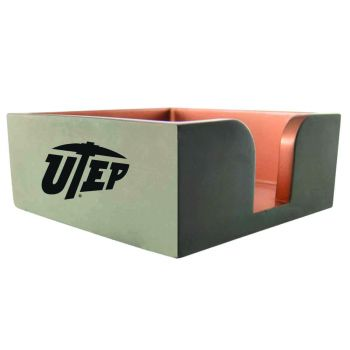 The University of Texas at El Paso -Concrete Note Pad Holder-Grey