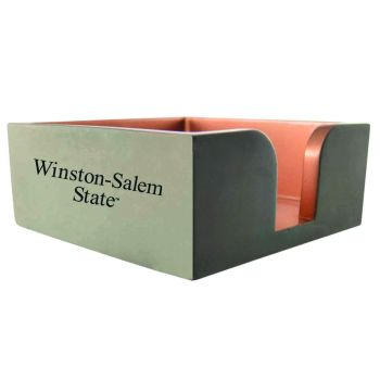 Winston-Salem State University-Concrete Note Pad Holder-Grey