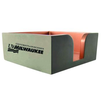 University of Wisconsin-Milwaukee-Concrete Note Pad Holder-Grey