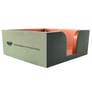 University of Wisconsin-Concrete Note Pad Holder-Grey
