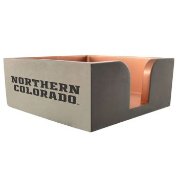 University of Northern Colorado-Concrete Note Pad Holder-Grey